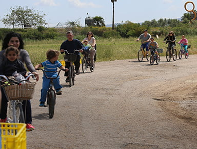 טיול אופניים בקיבוץ כפר מסריק